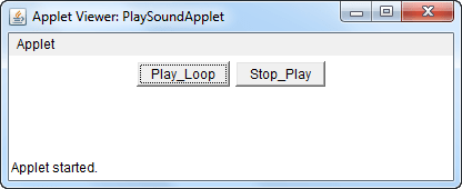applet play sound p9