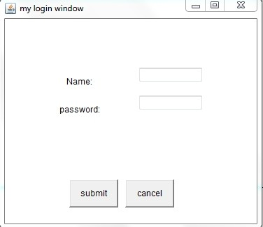 Java Program to Design Login Window Using AWT Controls